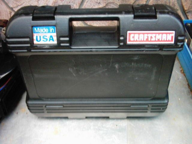 Used CRAFTSMAN Tool Case Molded Toolbox for 14,38 Rachets  Sockets
