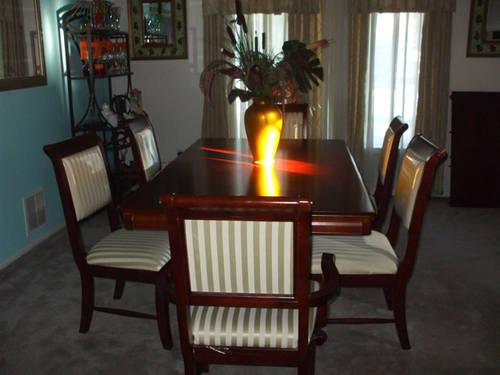 Used Dark Cherry Dining Room Set For Sale In Middletown