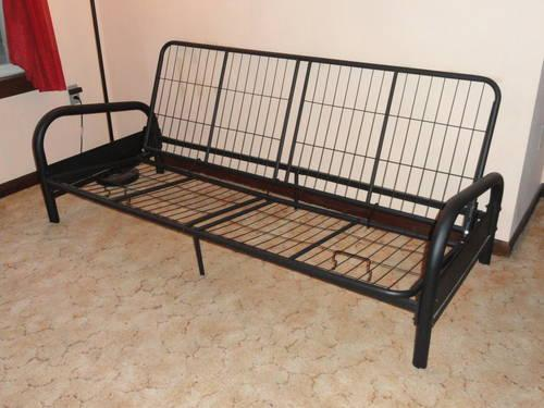 Used Dorel Futon Frame, Black Metal Arms. for Sale in Huntington ...