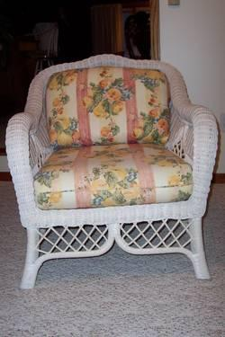 Used Gorgeous Henry Link White Wicker Furniture For Sale