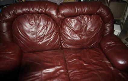 Used Leather Couch And Couch Set For Sale