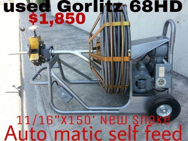 Used Like New Sewer Machine Gorlitz 68hd Works Great For