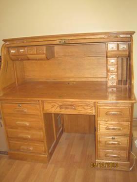 Used Oak Roll Top Desk For Sale In Wetumpka Alabama