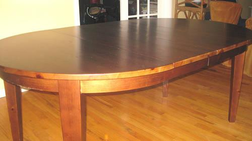 Used Pottery Barn Dining Table With Chairs For Sale In Cedar Grove - Pottery barn pine table
