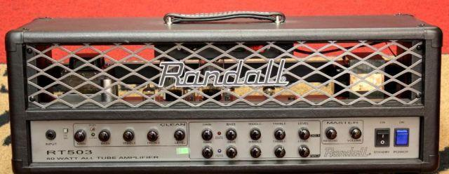 Used Randall RT Series RT503H 50W Tube Guitar Amp Head wFTSW