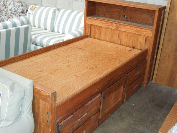 Used Rustic Captains Bed   $199 (Griffith Furniture)