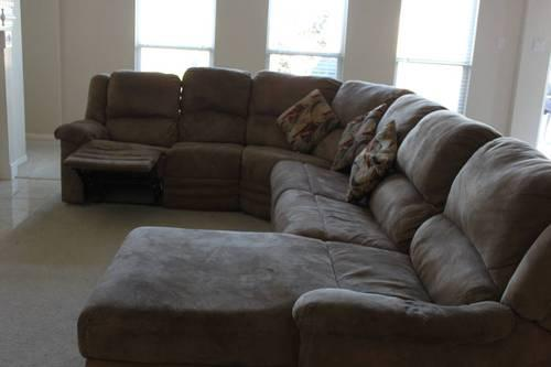 Used sectional sofa curved L shape for Sale in Missouri City