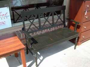 USED SOLID WOOD BENCH   $150 (GRIFFITH FURNITURE)