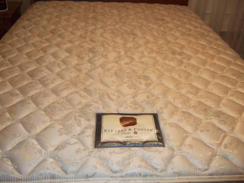 Used Stearns And Foster Queen Mattress And Box Spring Set