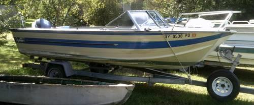 Used Sylvan 18 Freshwater Boat 1981 W 85 HP Evinrude