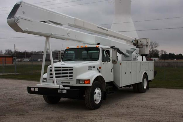 used teco 75 39 2000 international 4900 4x2 bucket truck for sale in indiana for sale in colona. Black Bedroom Furniture Sets. Home Design Ideas