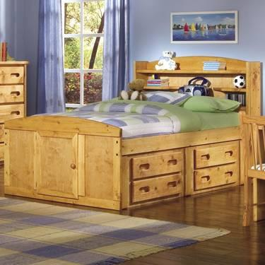 USED TRENDWOOD PALOMINO FULL BED WITH CAPTAIN DRAWERS\