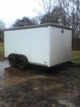 Used Tires Mobile Al >> Used Wells Cargo 7 x 16 Enclosed Trailer for Sale in Corinth, Alabama Classified ...