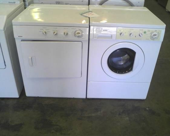Used White Kenmore Cube Stackable Washer Dryer For Sale