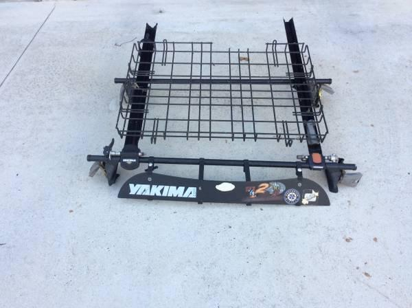 Used Yakima Bike Rack And Roof Basket With Faring For