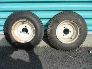 Utility Cart Tires with Rims - $20 (Milford,Mass)