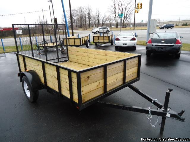 Travel Trailers For Sale In Michigan >> Utility Trailer 6x10 wood side for Sale in Flint, Michigan Classified   AmericanListed.com