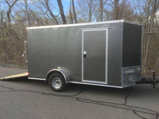 V Nose 7x12 Enclosed Cargo Trailer Storage Moving Harley