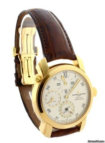 Vacheron Constantin Malta Dual Time Regulator 18k Mens Watch BoxPapers 42005
