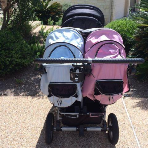 Valco Tri Mode Twin Stroller W Joey Seat Amp Canopy Le