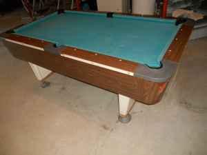 Valley one piece slate pool table holton for sale in for 1 piece slate pool table