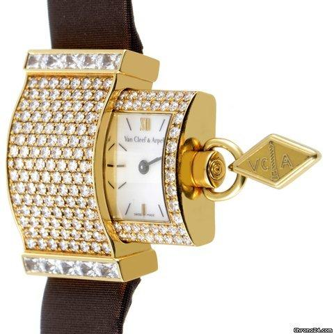 Van Cleef & Arpels Secret Pavée Women's 18K Yellow Gold