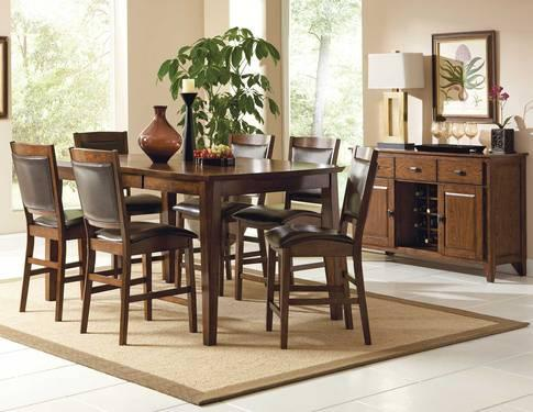 Vancouver Dining Room Table Set TABLE 6CHAIRS SERVER