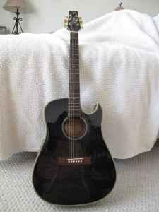 Vantage Accoustic/Electric Guitar - $175