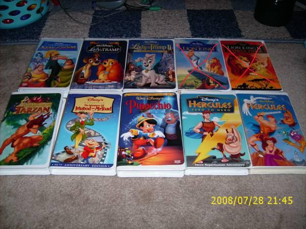 Variety of Walt Disney VHS Tapes - Collectibles