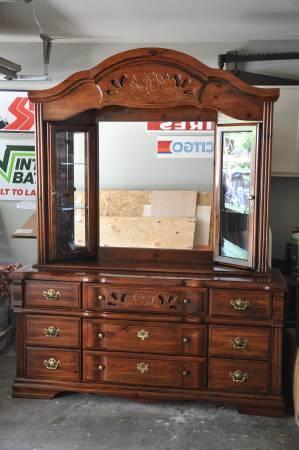 Vaughan Bett Dresser W Display Shelves Mirror
