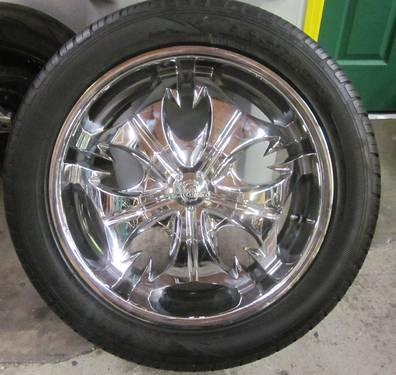 Kumho Tires Review >> VD 20 INCH TRUCK 5 LUGS CHROME RIMS & TIRES - 5X5.0 ...