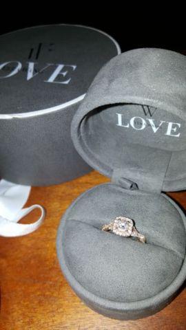 Vera Wang 14k Rose Golf Engagement Ring Size 7