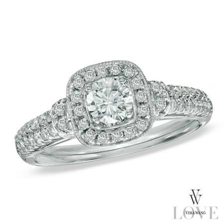 Vera Wang LOVE Collection 34 CT. T.W. Diamond Frame Engagement Ring i - $1500