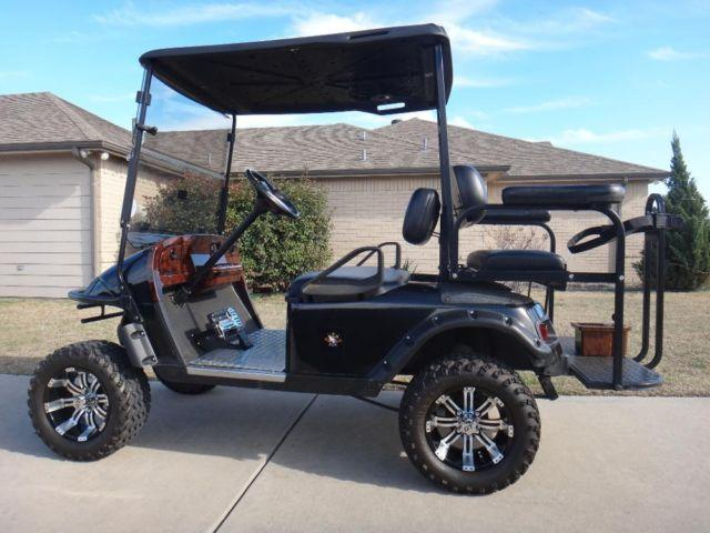 Very Clean 2001 E Z Go Txt Lifted 36 Volt Golf Cart For
