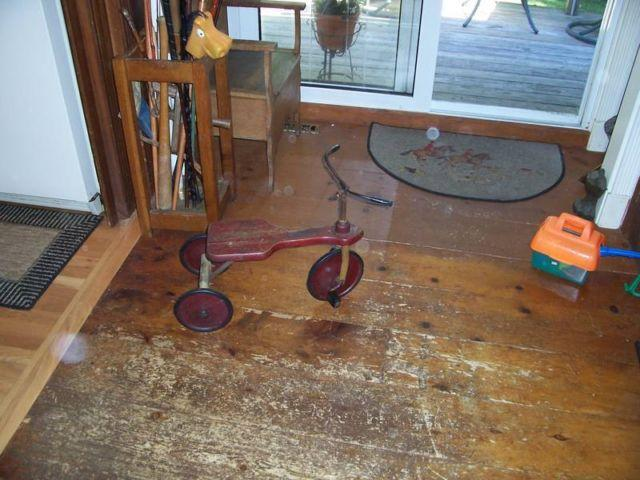 Very collectible early wooden toy trike