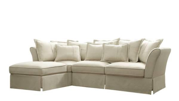 Very Elegant New All Linen Sectional Sofa