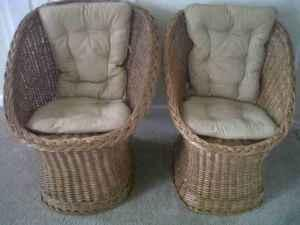 very excellent -2-cane chairs - $45 (winchester) & very excellent -2-cane chairs - (winchester) for Sale in Winchester ...