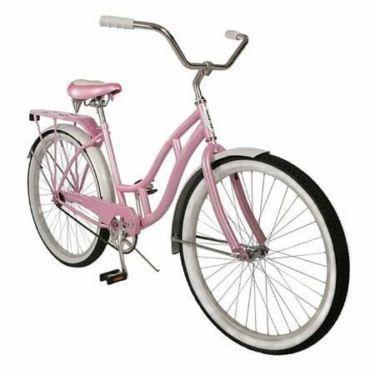 Very Nice Pink and White Schwinn Bike