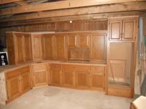 VERY NICE USED CUSTOM OAK KITCHEN CABINETS CUMMING GA For Sale In