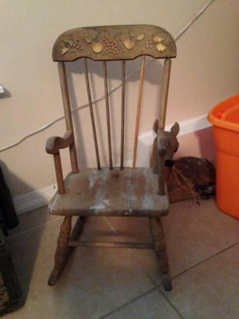 Very Old Decorative Rocking Chair - $5