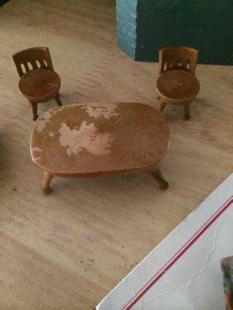 Very old miniature furniture - $1