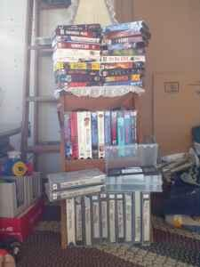 VHS Movies, and DVD rack's - $40 (Flint)