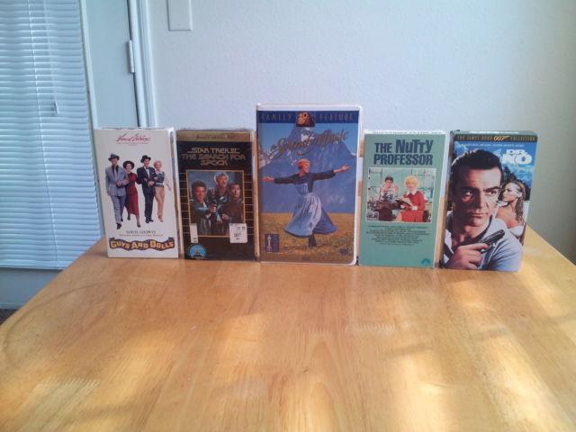 VHS Movies James Bond, The Sound Of Music