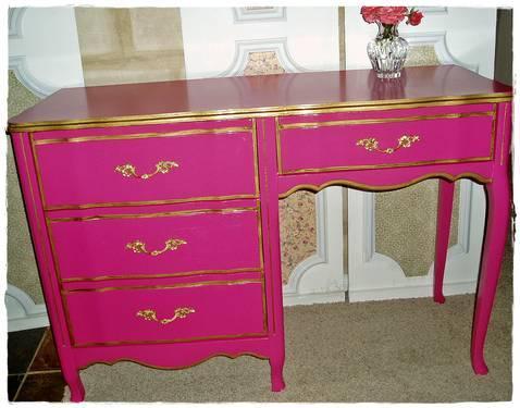 Victoria S Secret Inspired French Provincial Pink Desk