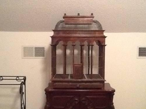 Victorian Bird Cage Wood And Metal Extra Large For Sale In