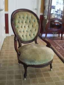 victorian parlor chair w tufted back spring hill franklin for