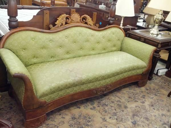 Sensational Victorian Walnut Burl Camelback Sofa For Sale In Reading Inzonedesignstudio Interior Chair Design Inzonedesignstudiocom