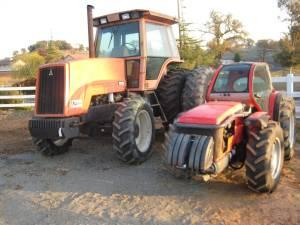 Vineyard / Orchard 85hp  tractor, 152 hp AC 8020 4x4 tractor, 21'disc -  $12200 (Jackson, Ca )