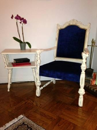 Vintage 1920's French Velvet Chair Excellent