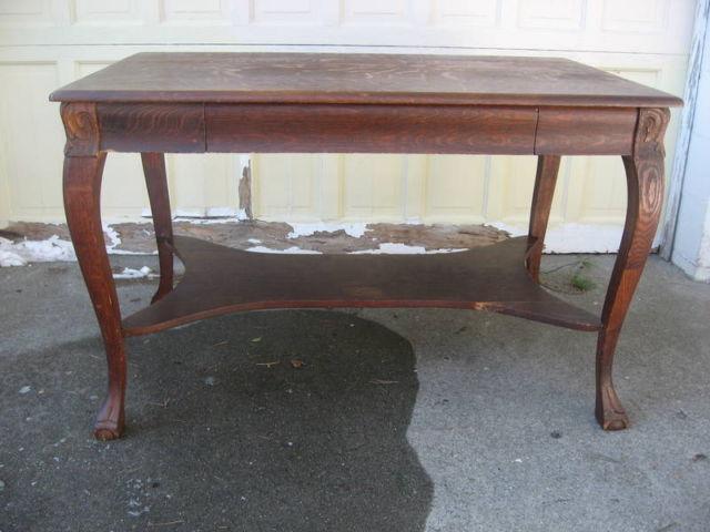 Vintage 1920u0027s Oak Library Table